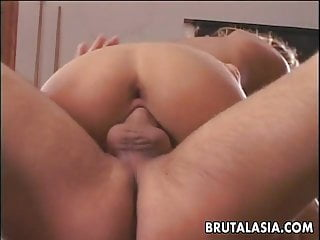 Brunette asian blonde babe - Skinny ass asian blonde bombshell pool table fucked
