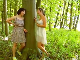 Lesb girl Two lesb with wild forest