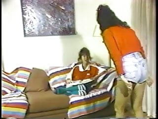 Vintage home floor Brat bitches rolling on the floor and hitting each other over a mystery guy