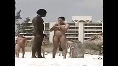 Сучку впечатлил большой черный хуй