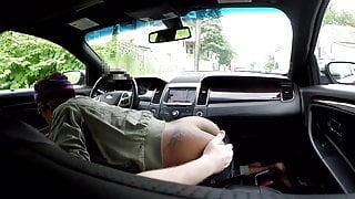 Black hooker car blowjob