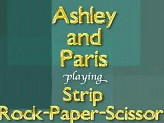 Papers sexy wall Ashley and paris play strip rock-paper-scissors