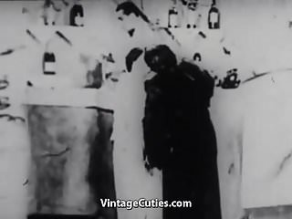 Drunk sons sex clips - Drunk babe in the bar 1920s vintage