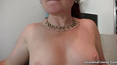 Mature office lady in stockings double penetration