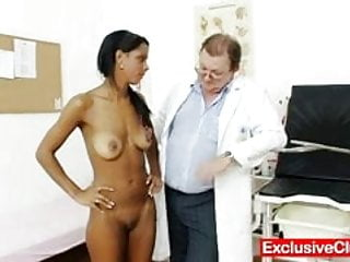 Weird things in the pussy Weird gyno doctor checks hot latina pussy