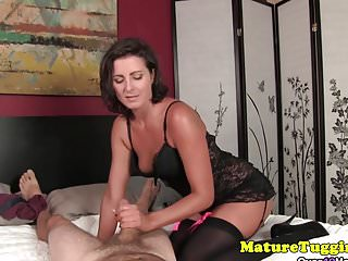 Milf giving handjob Massive boobs milf giving handjob pov