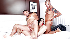 Stepbro and His Friend Get Railed by TS Stepsis Nataly Souza