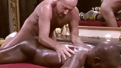 White Daddy Massages and Barebacks Black Muscle guy