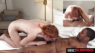 Sweet Ginger Opal from Essex Gets Butt Banged By Big Black Cock!