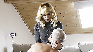 FULL VID: Tranny Dom using her personal house slave