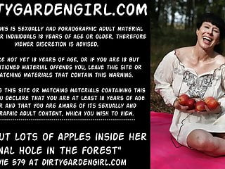 Apple hardcore computist - Dirtygardengirl put lots of apples inside anal hole public