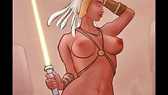 Jedi knight Indeera Stokes from Star Wars drawing timelapse