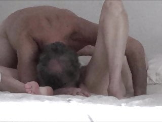 Mature cum eating husband - Mature wife, husband and their vibrator have sex