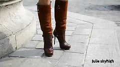 french cumslut exhibionist in boots (gangbanggirl ggg)