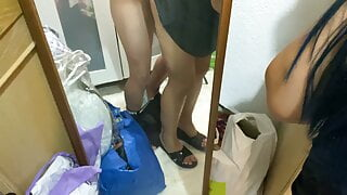 I Fuck my STEPSISTER inside her closet by surprise! 4k