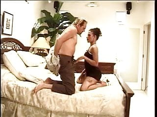 Free porn black white dude Hot black babe gets her pussy licked by white dude on bed