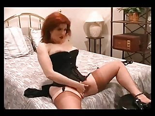 Fashion sexy nude - Fire hot sexy redhead in full fashion stockings