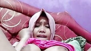 Hot asian tudung, hijab, jilbab slut playing herself 18