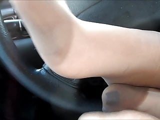 Fashion hose in lesbian pantie sexy sucking toe Blue toes hose