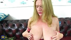 One on one with big tit mature mom