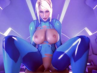 Two zero tits - Samus aran zero suit in space