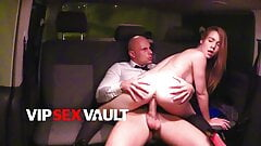 VIP SEX VAULT - Alexis Crystal Rides Uber Driver On His Car