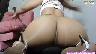 Big booty in pantyhose