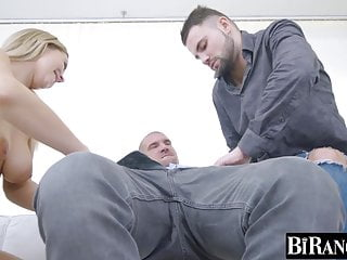 Cock hard hung male Hung hunk drills bearded guy and busty babe super hard