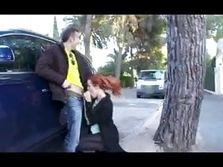 Teen pussy of the streets - Deepthroats some head right on the streets of spain