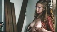 Vintage girl seduces man
