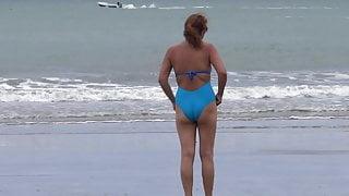 MY HAIRY LATINA WIFE MASTURBATES AFTER THE BEACH, ORGASM