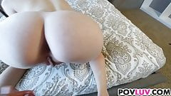 Skinny girl Alice March takes big dick