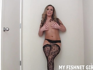 Fucking every were These expensive fishnets were worth every penny joi