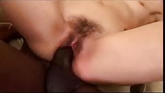 He puts black dick inside hairy white pussy(ctrent)