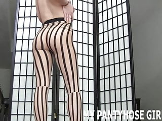 Soft penis stroking Stroke your dick to my soft and silky pantyhose