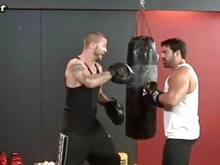Two gay friends - Two gay boxers licking their asshol
