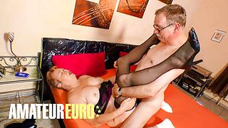 AMATEUREURO - Fat Ass German Granny Fucks Her Old Husband
