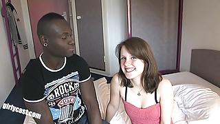 Sweet teen Jennin first BBC