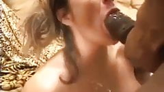 too much cum to swallow from a huge black cock