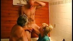 3some bj in the bath