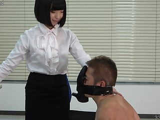 Office slave femdom stories Japanese femdom office lady foot fetish and facesitting