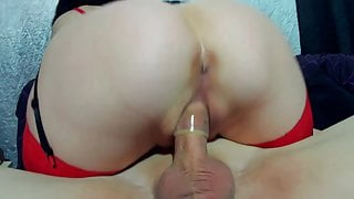 The whore fucks with a guy in different positions