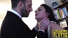 Insatiable Brit sub gets dominant cock deep inside her ass