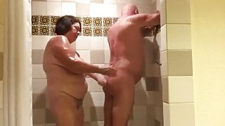 not Mom and stepdad in the shower