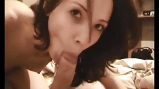 Amateur brunette wife fuck and cum in mouth