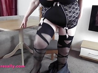 Boobs and stockings tubes Amazing big boobs granny in girdle and stockings