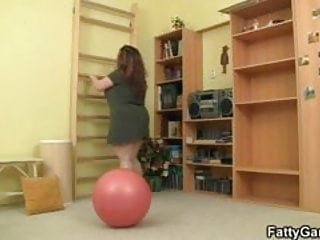 Sexy fitness instructor erotic female - Big titted fatty fucks her fitness instructor