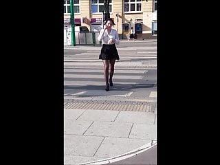 Teen high heels mini skirt 33 girl with great legs in mini skirt and high heels