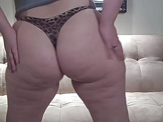 Fuck leopard Pawg teasing dick in satin leopard thong