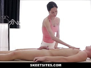 Milf boy handjob orgasm videos Big tits skinny milf seduces boy during massage
